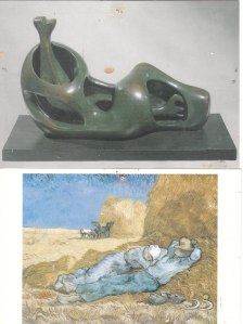 Sculpture Moore Peinture van Gogh