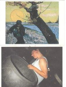 Peinture vanGogh Au travail