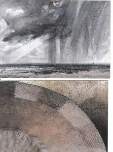 Ciel d'orage de Constable  Détail poterie