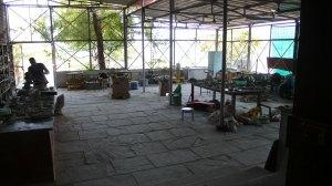 L'atelier de céramique au centre culturel de Bhopal