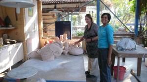 Aditi Saraogi, céramiste indienne avec Sandra Black