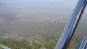 Montée en téléphérique sur la colline