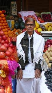 Sur le marché, portrait