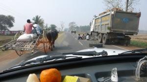Traffic sur la route de l'Himalaya, à 8h de route seulement